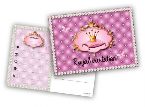 Princess Party Invitations 6's Beautiful Story Book Royal Regal Hero